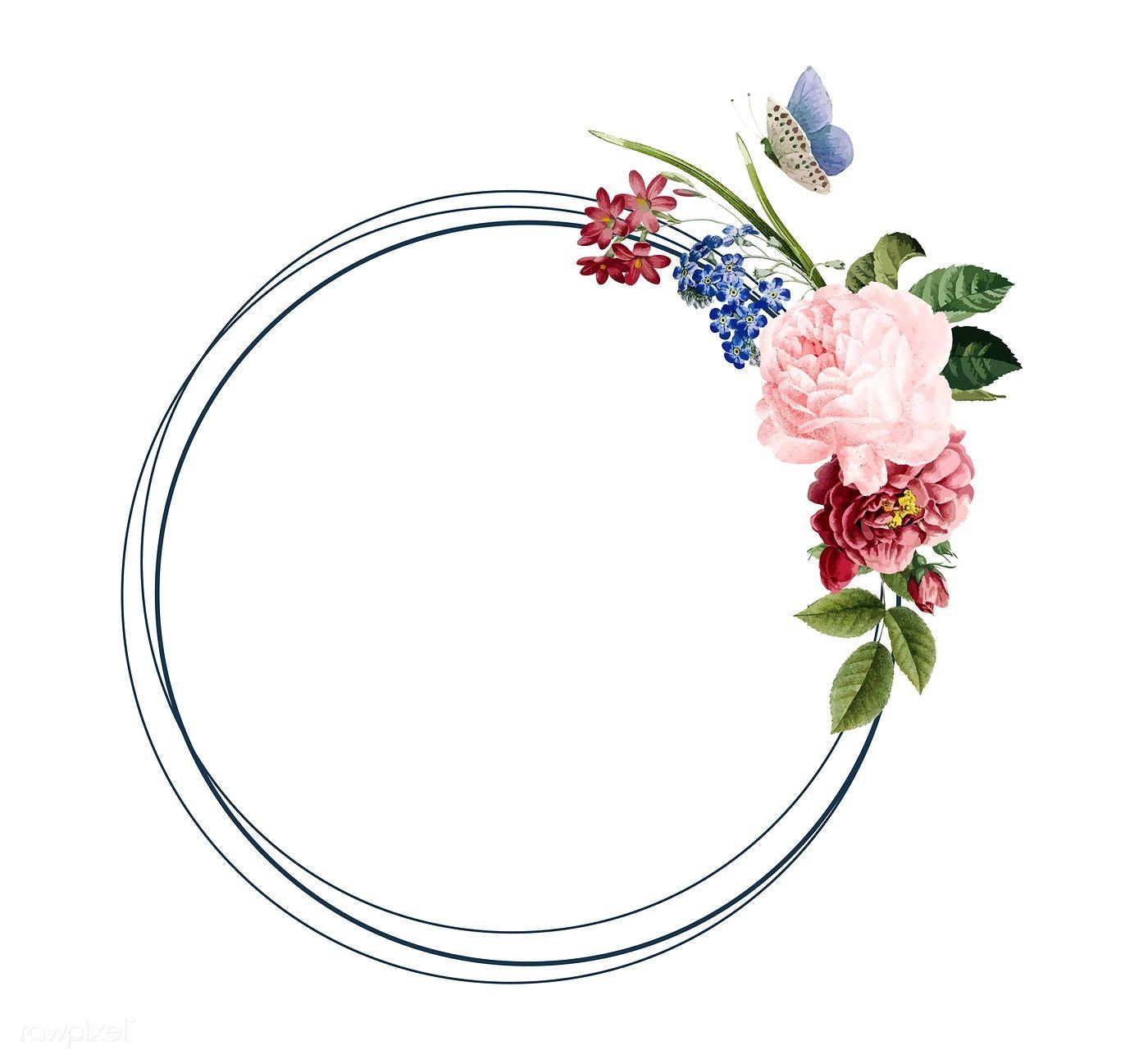 Download Premium Vector Of Floral Frame Card Design Illustration 466603 Watercolor Flower Vector Illustration Design Card Design