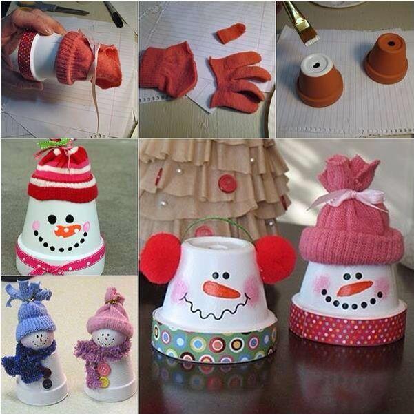 Terracotta Pot Snowmen (DIY Craft Projects)