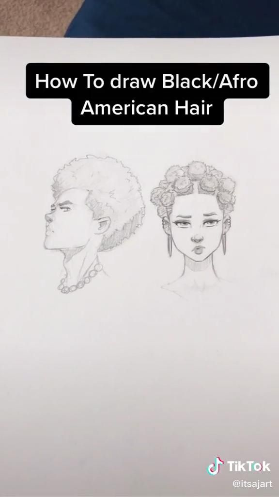 How To Draw African Afro Hair Video In 2020 Drawing Challenge Drawings Drawing Techniques