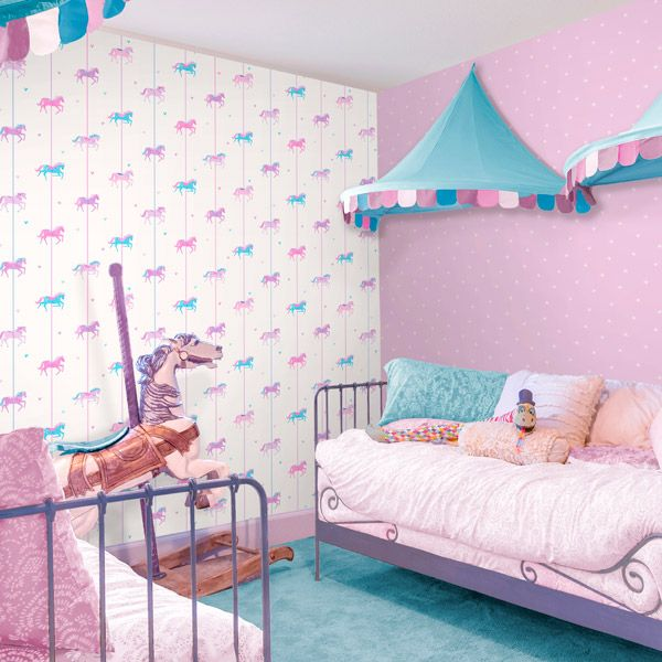 Carousel es una de las mejores colecciones de papel pintado infantil ...