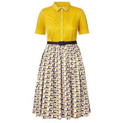 Poolside Print Cotton Poplin Shirt Dress