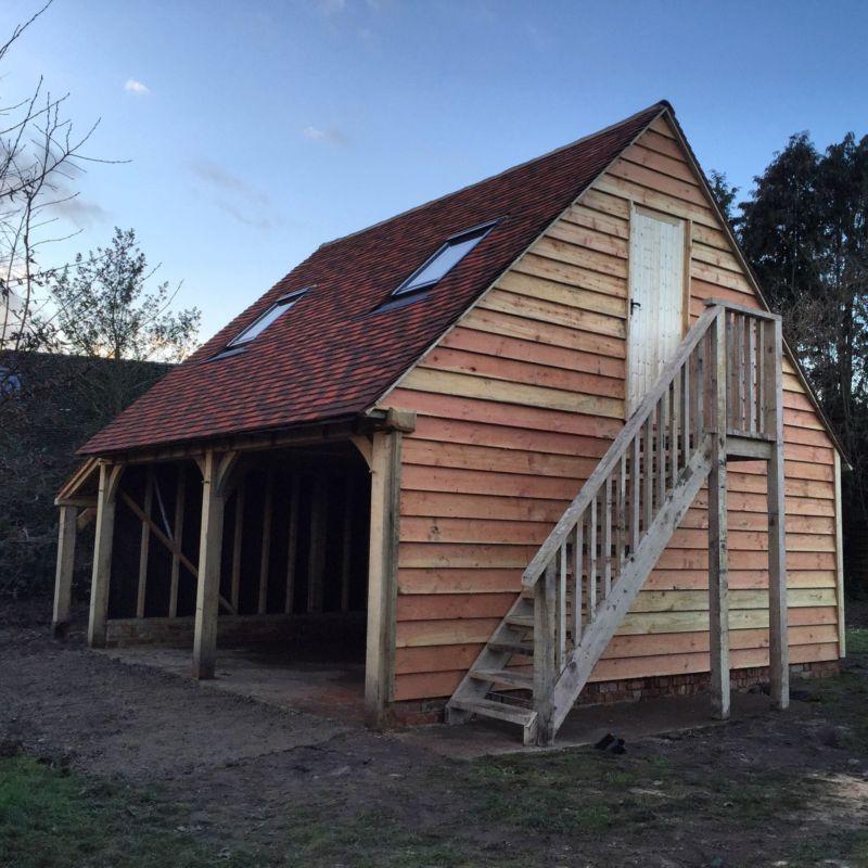 Green Oak framed Garage, 2 Bay Cart Lodge, Green Oak/ Barn