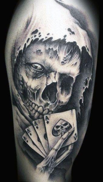Tatuaze Czaszki I Karty Tattoos Pinterest Tattoos Skull