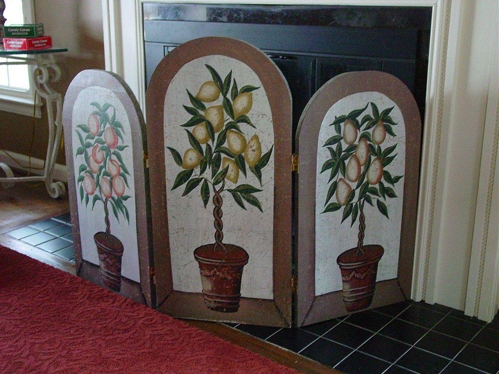 decorative fireplace screen ideas