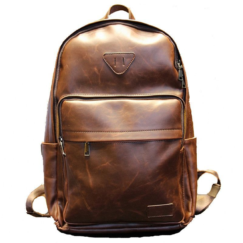 Brand New Trendy Stylish Men s Laptop Leather Backpack   Backpack ... 13cf74956b