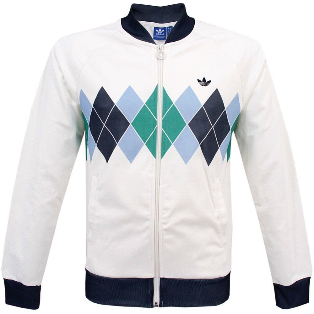 Adidas Argyle Track Top NEW WITH TAGS 80S CASUALS VILAS IVAN
