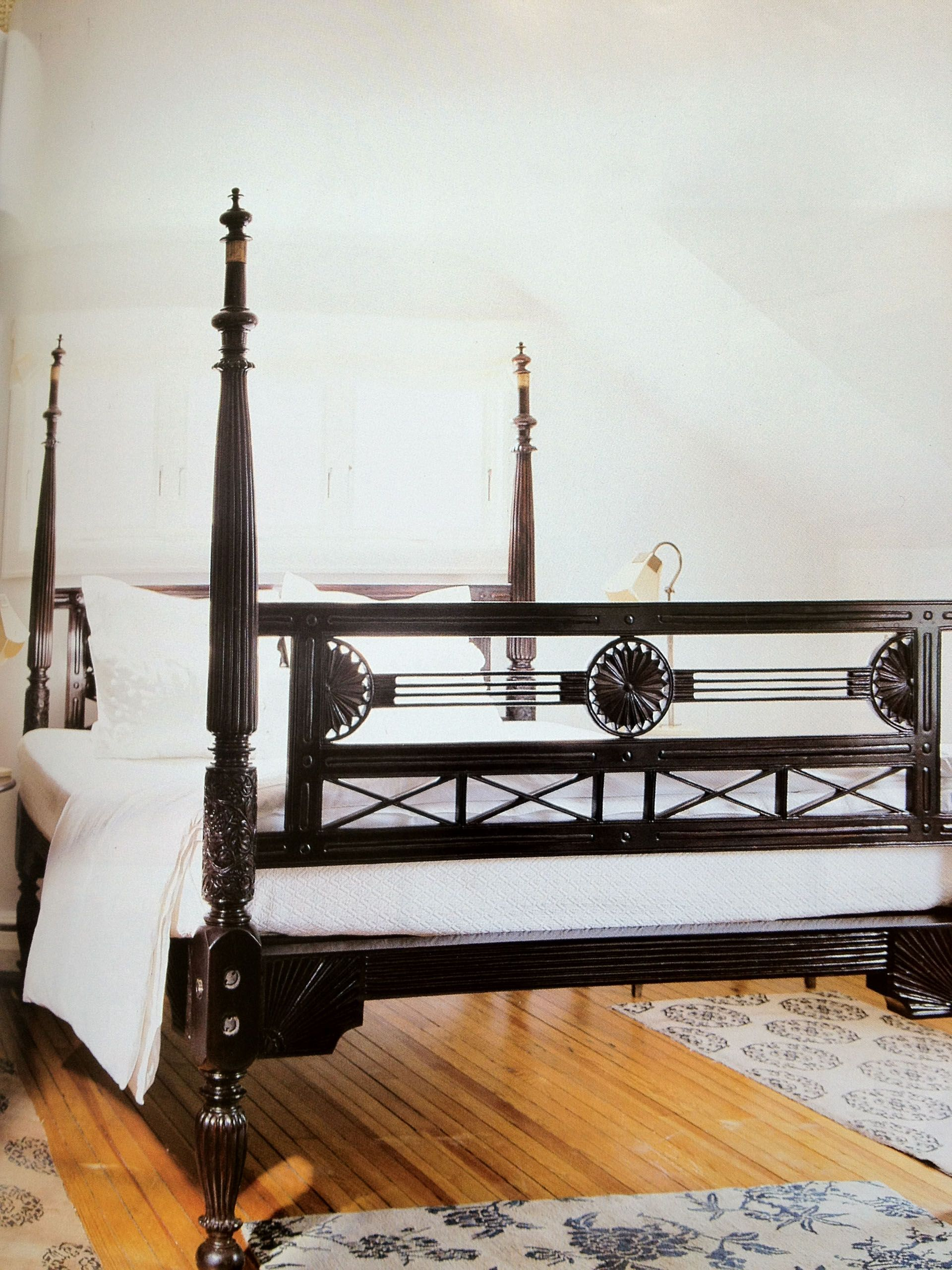 Rosewood Bedroom Furniture English Anglo Indian Bed King Size Rosewood Anglo Indian