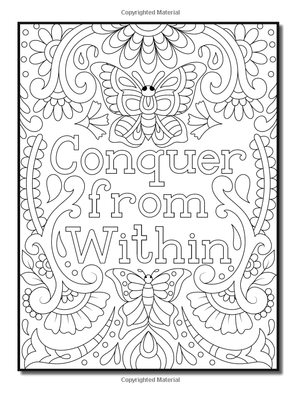 Free adult coloring pages, Quote coloring pages, Cool ...