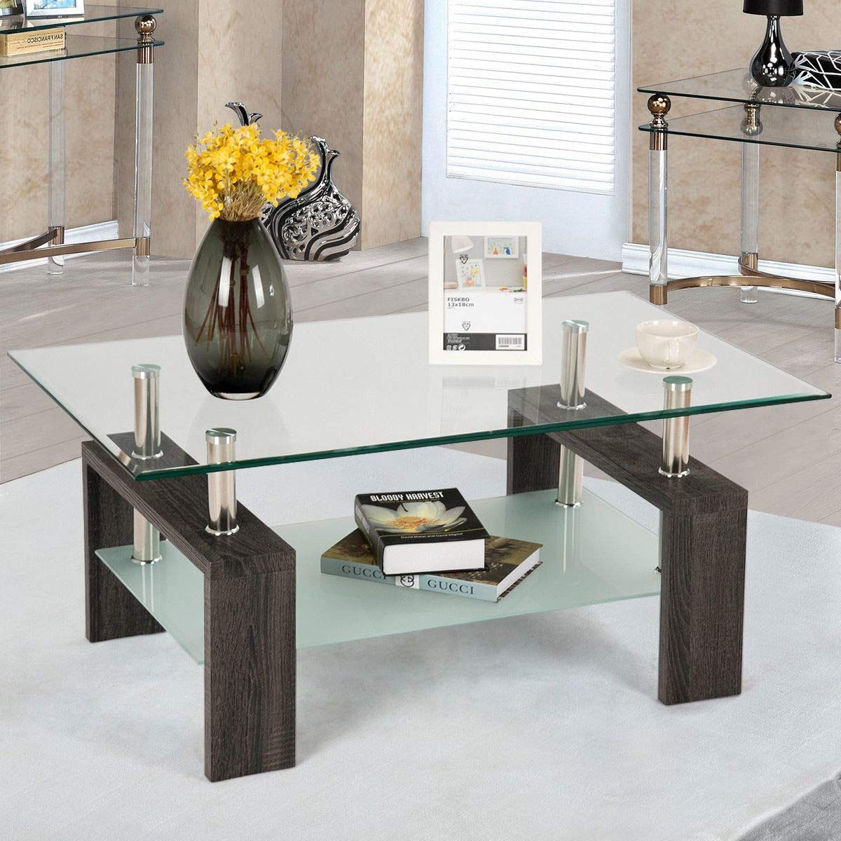Miraculous Coffee Tables For Living Room Coffee Table With Shelf Coffee Table Rectangular Glass Coffee Table [ 1200 x 1200 Pixel ]