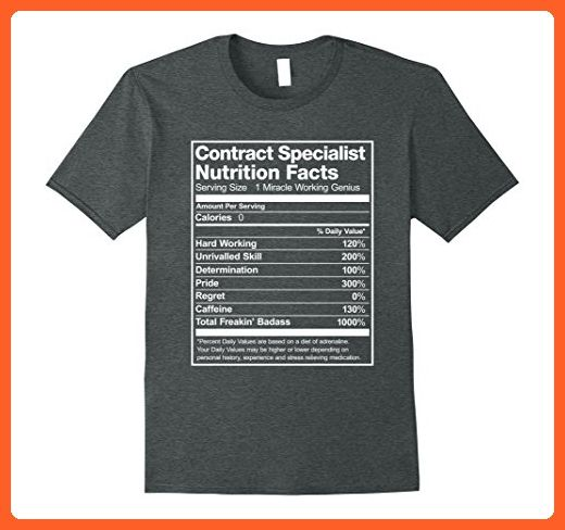 Mens Contract Specialist Nutrition Facts Funny TShirt Xl Dark