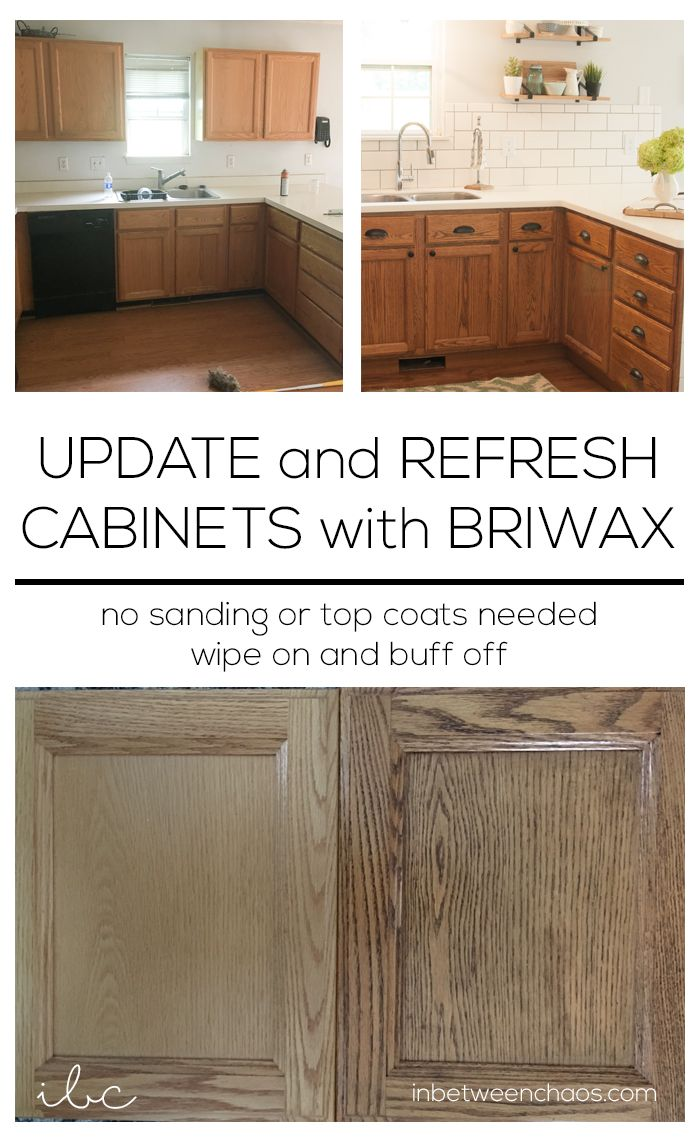 How To Update Kitchen Cabinets Update And Refresh Cabinets With Briwax Inbetweenchaos
