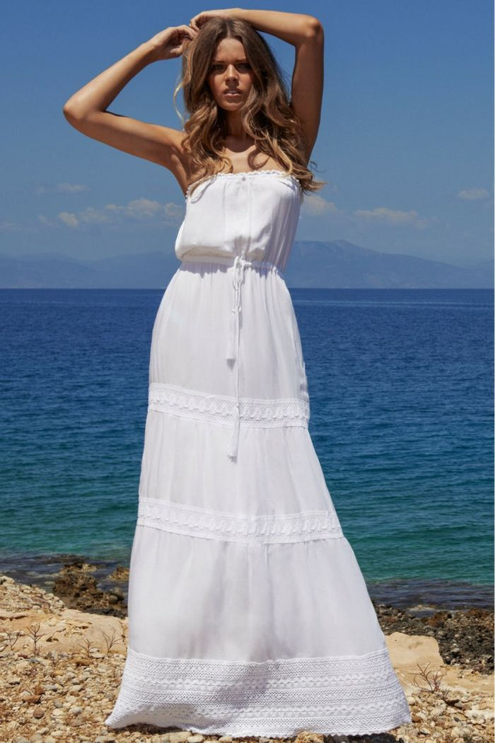 Robe Longue Ete Quelles Sont Les Tendances A Suivre Robe Longue Blanche Boheme Robe Blanche Longue Robe Longue