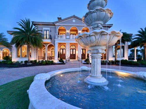 Estate of the day 16 5 million italian mansion in for Mega mansions in florida