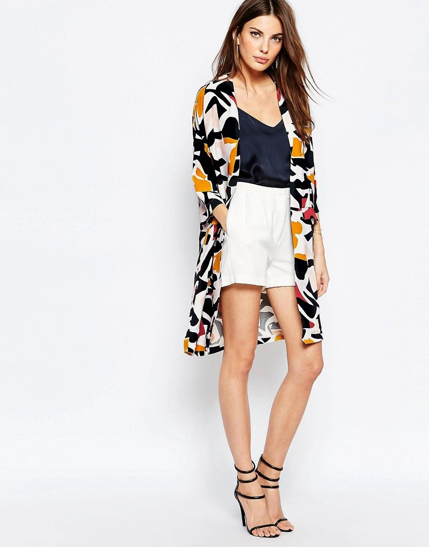 Image 4 ofSelected Dimer Duster Jacket in Graphic Print