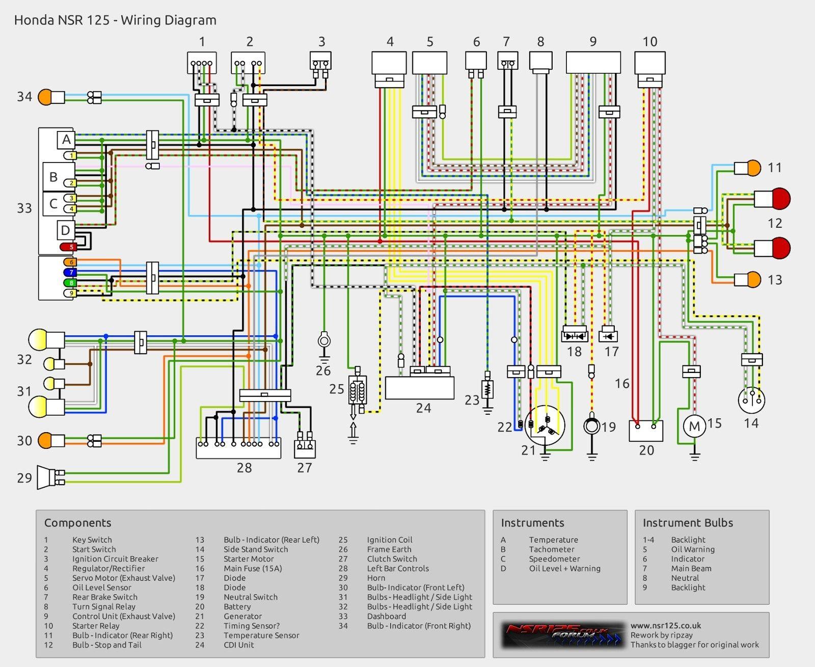 Honda Xr 125 Wiring Diagram Honda Diagram Motorcycle Wiring