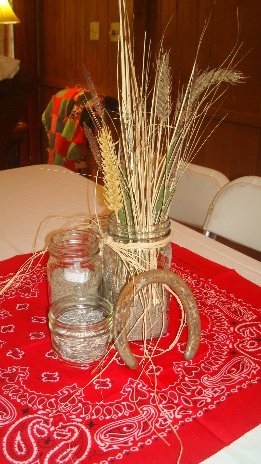 Wheat country centerpieces for weddings
