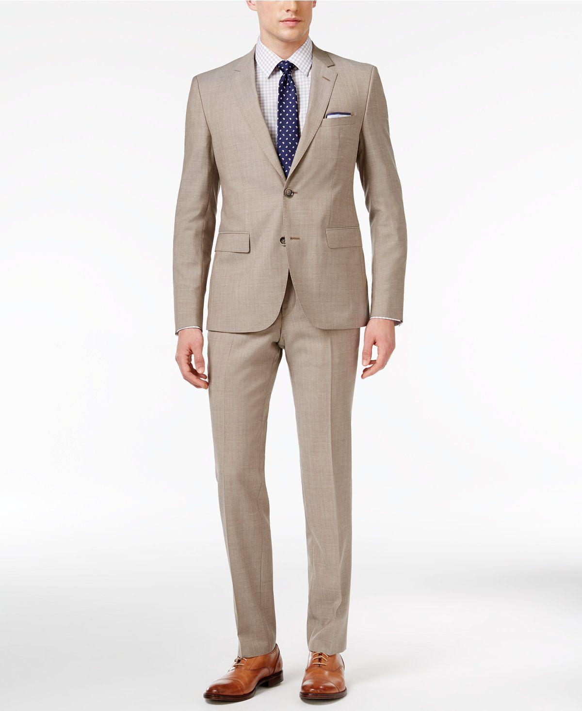 d3424eef1 HUGO Men's Slim-Fit Tan Suit - Suits & Suit Separates - Men - Macy's ...