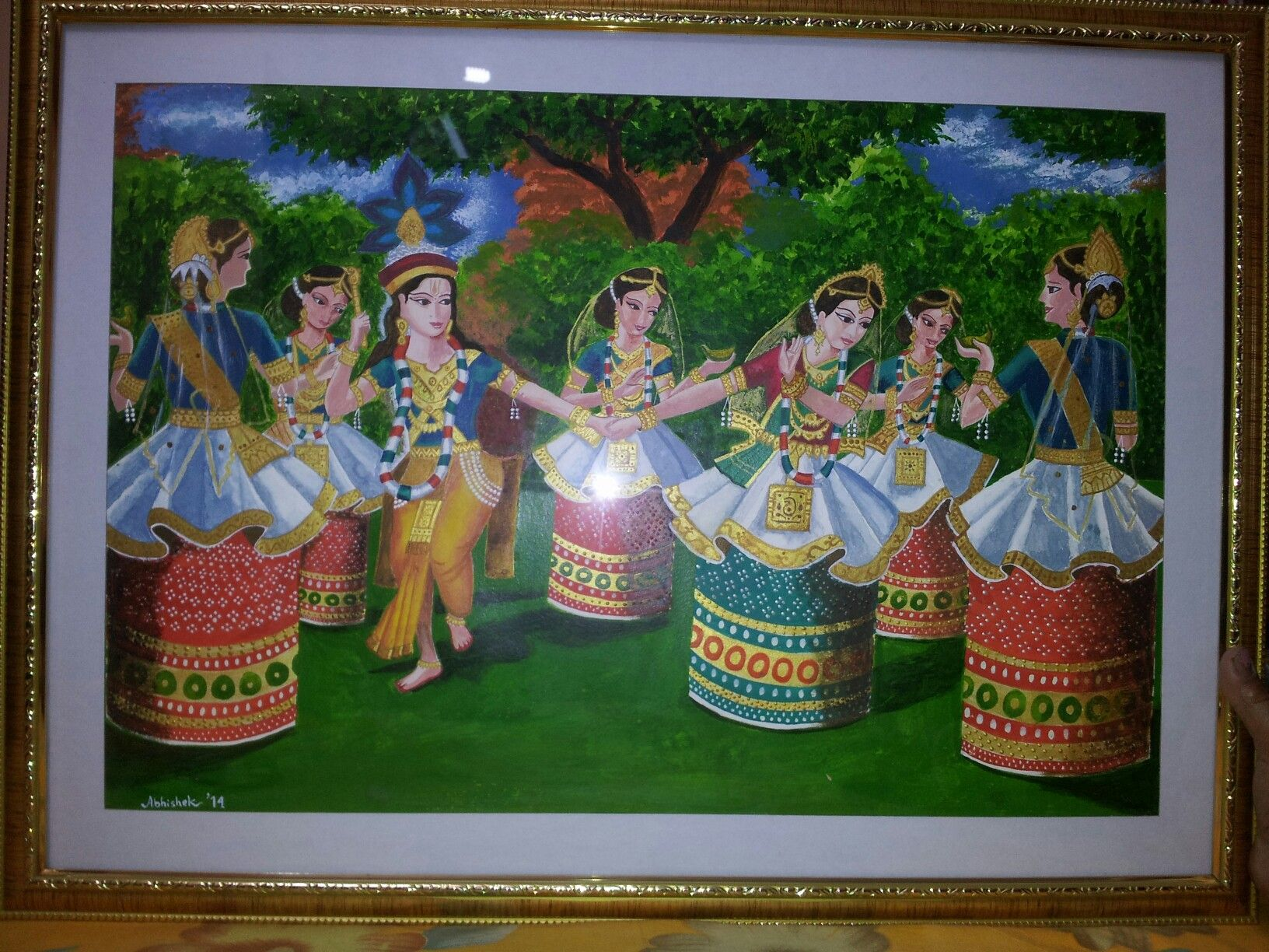 How To Make An Interesting Art Piece Using Tree Branches Ehow Dance Paintings Painting Interesting Art