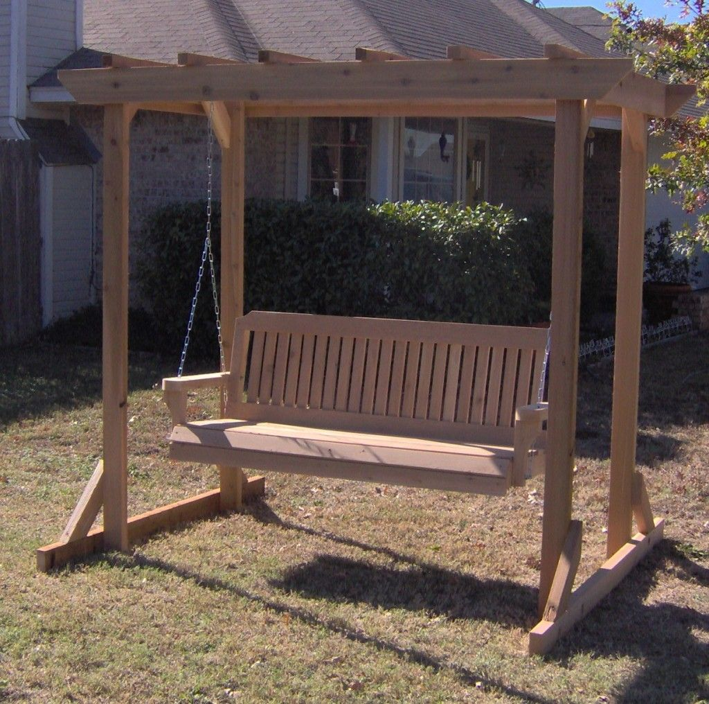 Great TMP Red Cedar Pergola Arbor Outdoor Patio Swing With Frame Could Grow Vines  On The Trellis!