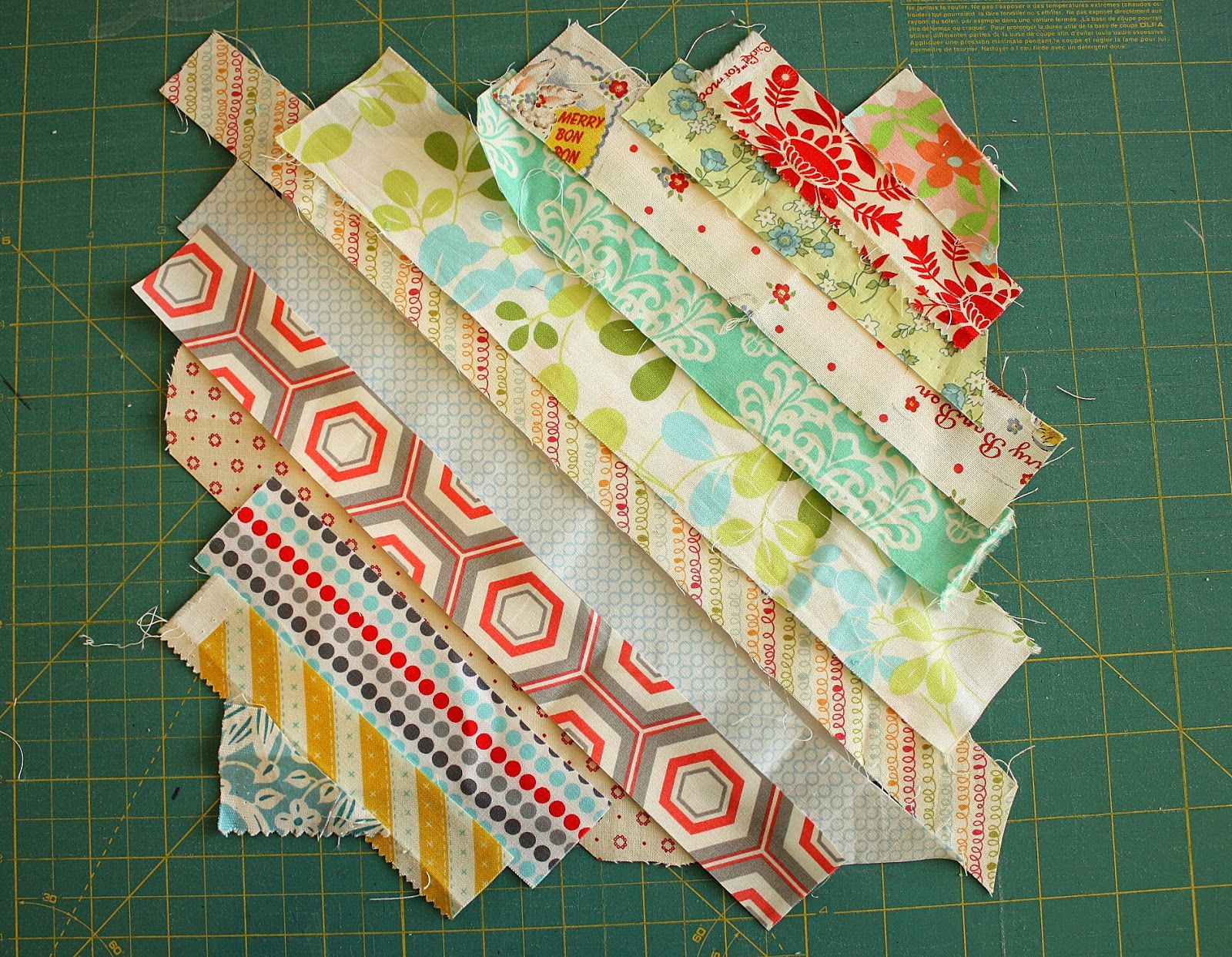 Easy Scrap fabric quilt block | Diary of a Quilter - a quilt blog