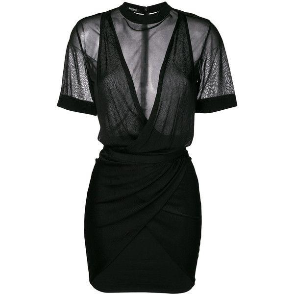2a19db05886 Balmain ruched mini dress ( 2