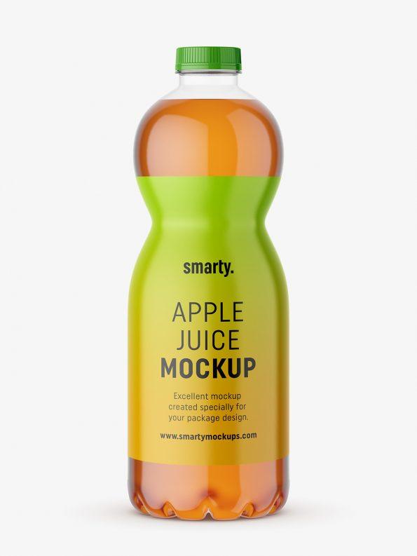 Apple juice bottle mockup (With images)