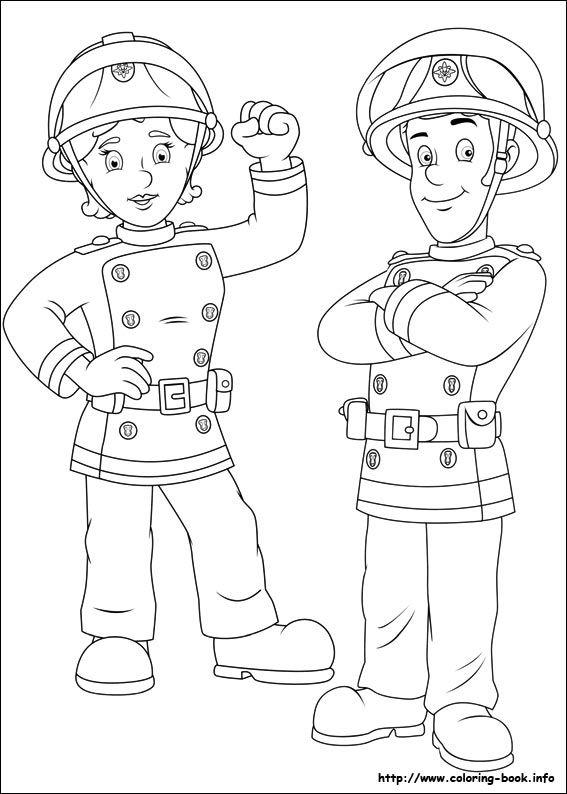 Fireman Sam coloring picture | Party 2ans Simon | Pinterest ...