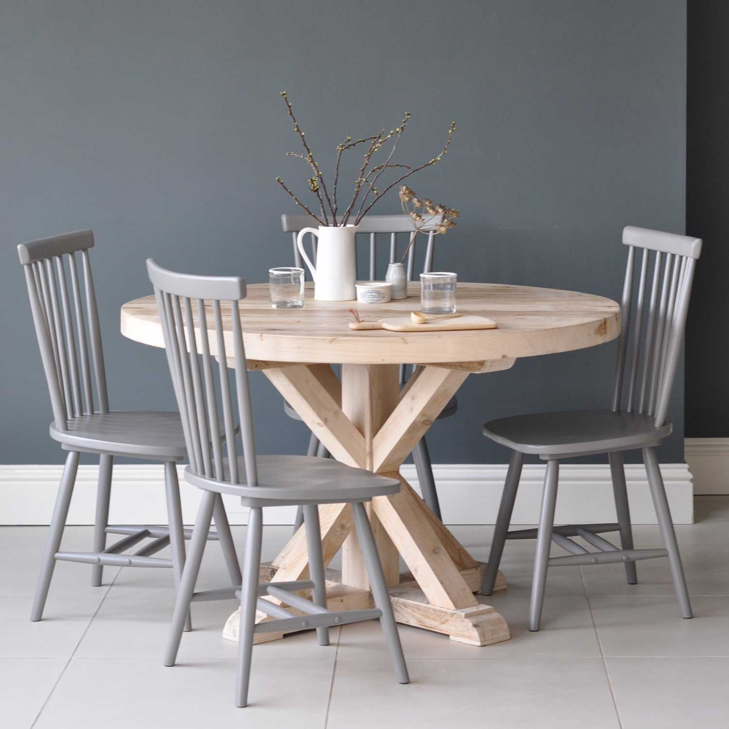 Circular Reclaimed Wood Round Dining Table | Crafting | Pinterest