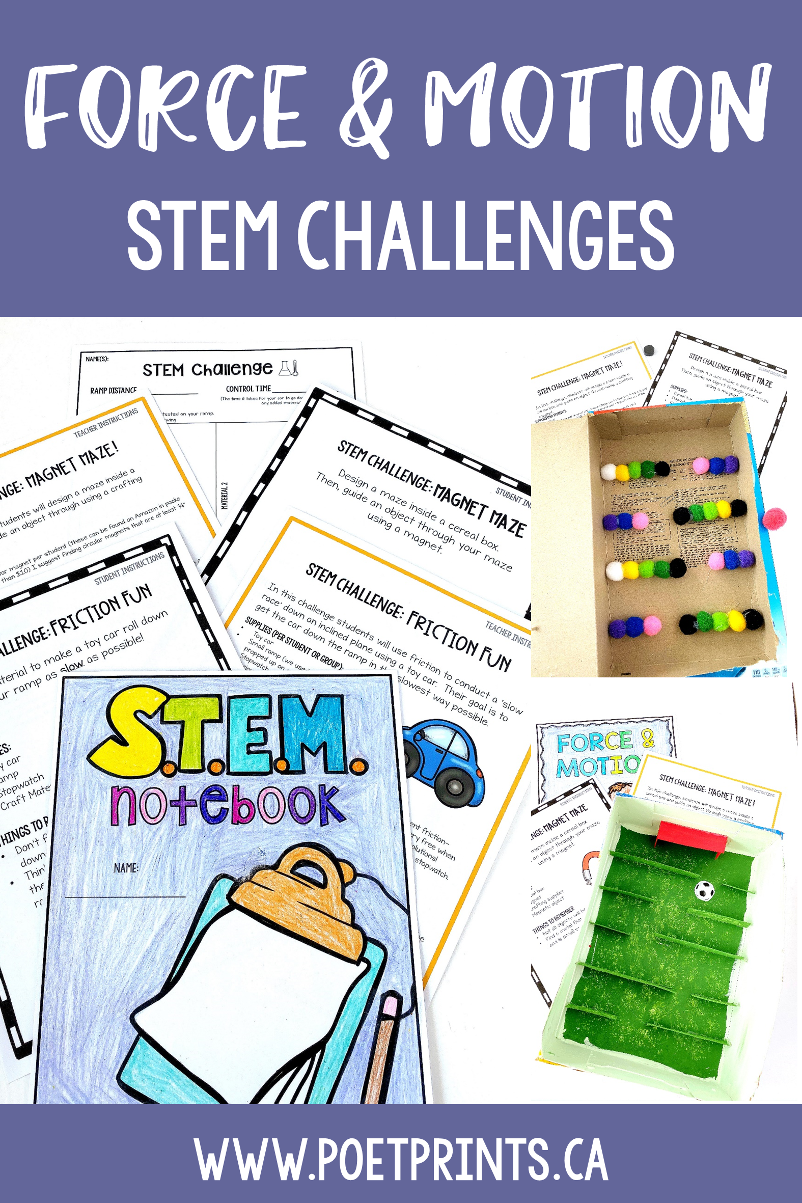 Force And Motion Stem Challenge Science Unit With Images