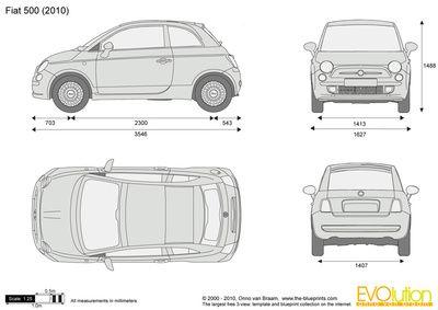 Fiat 500 voiture dessin pinterest voiture dessin et - Voiture autocad ...