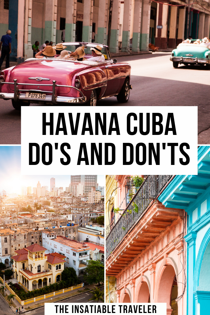 What Not to do in Havana Cuba: a helpful list of Havana Do's and Don'ts. Before you hop on a plane to Cuba check out this list of essential travel tips to make the most of your holiday in Havana. |Havana Travel Tips | Havana Travel Guide | Cuba Travel Tips | What to do in Havana Cuba | What Not to Do in Havana Cuba | #cuba #havana #style #shopping #styles #outfit #pretty #girl #girls #beauty #beautiful #me #cute #stylish #photooftheday #swag #dress #shoes #diy #design #fashion #Travel