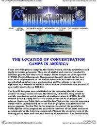 The Locations Of Fema Concentration Camps In America  Fema