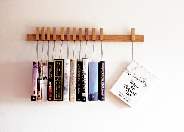 Cool hanging bookshelf by Agusta