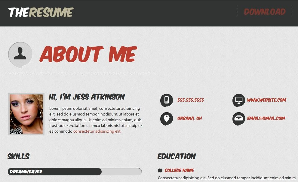 Awesome Html Cv Template Collection Html Resume Templates Html Cv Template Here Is Awesome Html Cv Resume Template Word Resume Template Free Resume Templates