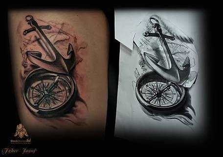 Resultado De Imagem Para Realistic Compass Tattoo Compass Tattoo