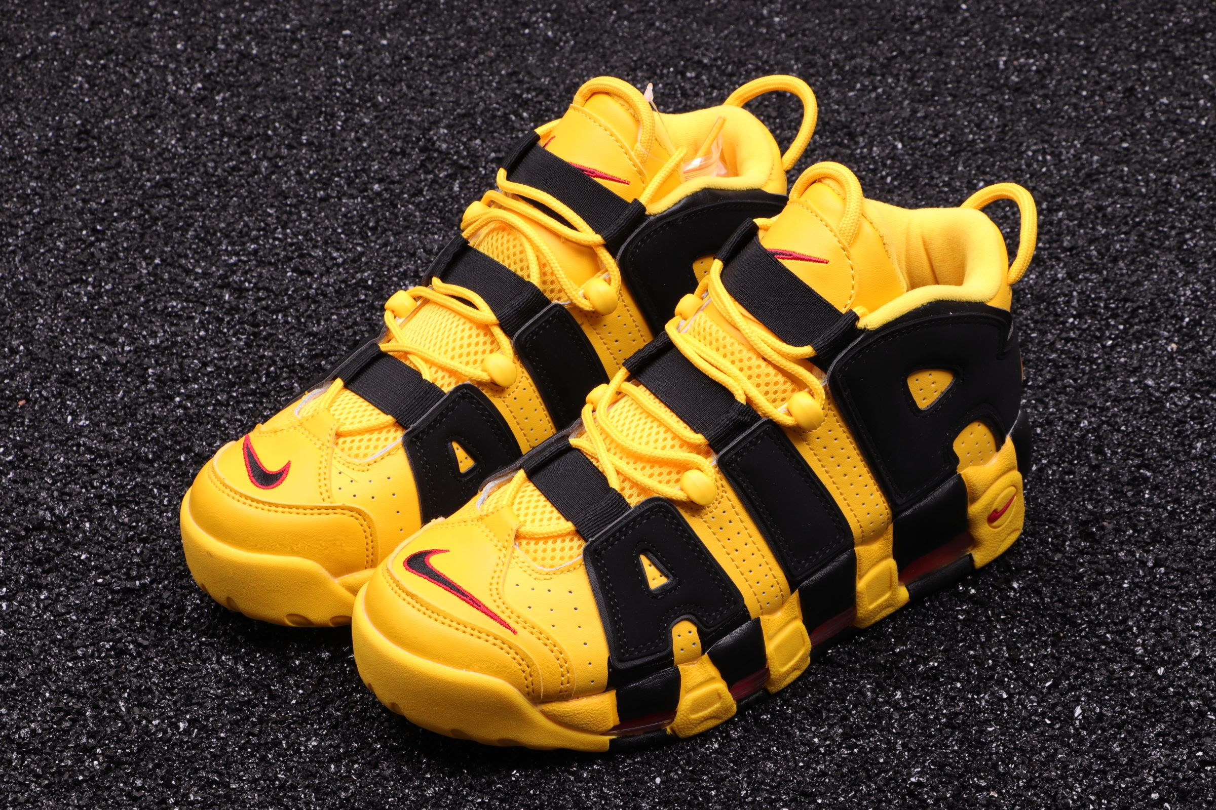 purchase cheap a7b53 634a9 NIKE AIR MORE UPTEMPO YELLOW TAXI BLACK 414962 700 #reebok ...