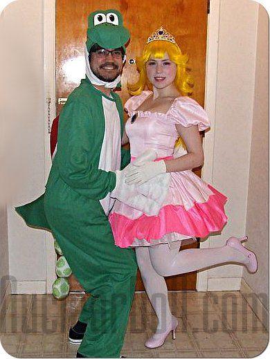 Princess Peach And Yoshi Cosplay Yoshi Costume Princess