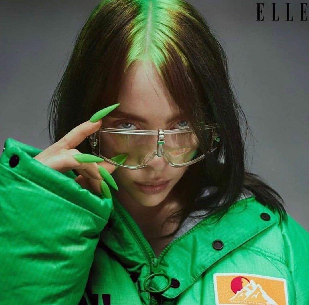Pin By Artistic Mind On Billie Billie Eilish Billie Green Hair