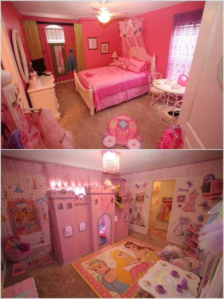 15 Lovely Disney Princesses Inspired Girls Room Decor Ideas Princess Room Decor Disney Princess Room Princess Room