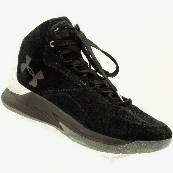 08be15926d3d NEW UNDER ARMOUR Stephen Curry Sneaker Mens 11 M Black Suede Leather Hi Top   120 -