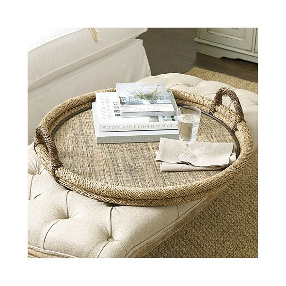 Decorative Ottoman Tray Woven Ottoman Tray  Beach House  Pinterest  Ottomans Trays And