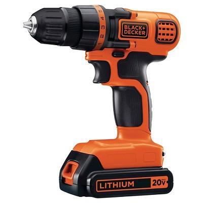Black Decker 20v Max Lithium Drill Driver Kit Orange W