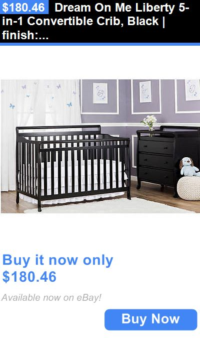 Baby Nursery: Dream On Me Liberty 5-In-1 Convertible Crib, Black ...