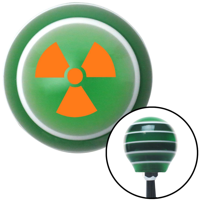 Orange nuclear hazard symbol green stripe shift knob with m16 x 15 orange nuclear hazard symbol green stripe shift knob with m16 x 15 insert give your buycottarizona Choice Image