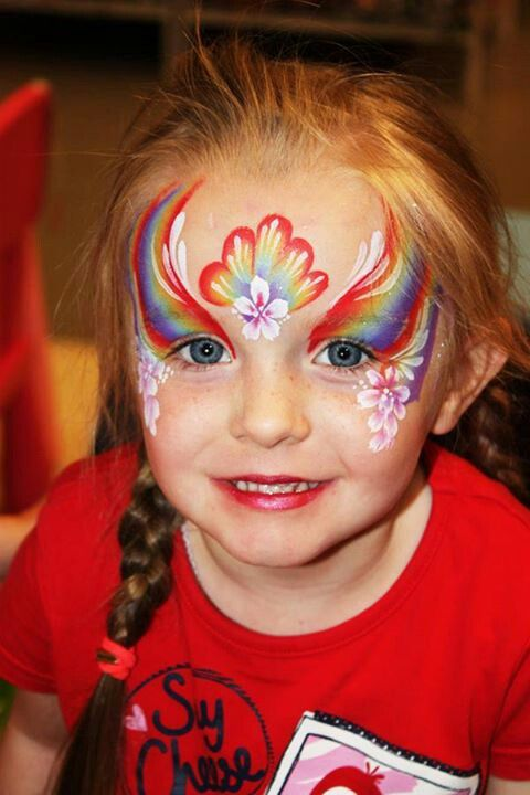 Rainbow face paint | Be a clown!!!!!! | Pinterest
