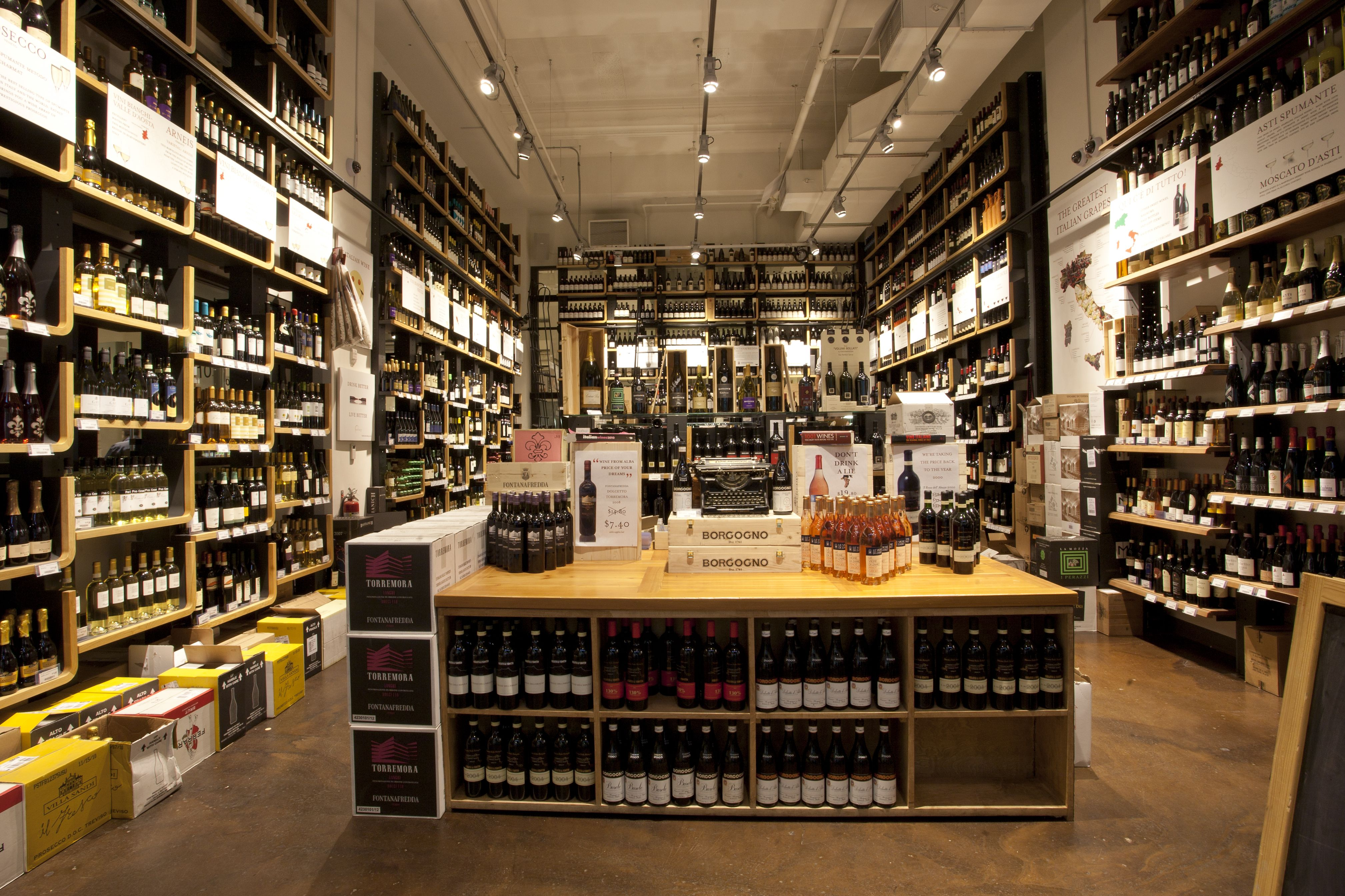 A view of our all italian wine shop located on 23rd street