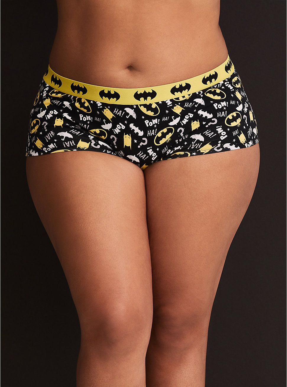 e910995dabd Plus Size Batman Cotton Boyshort Panty