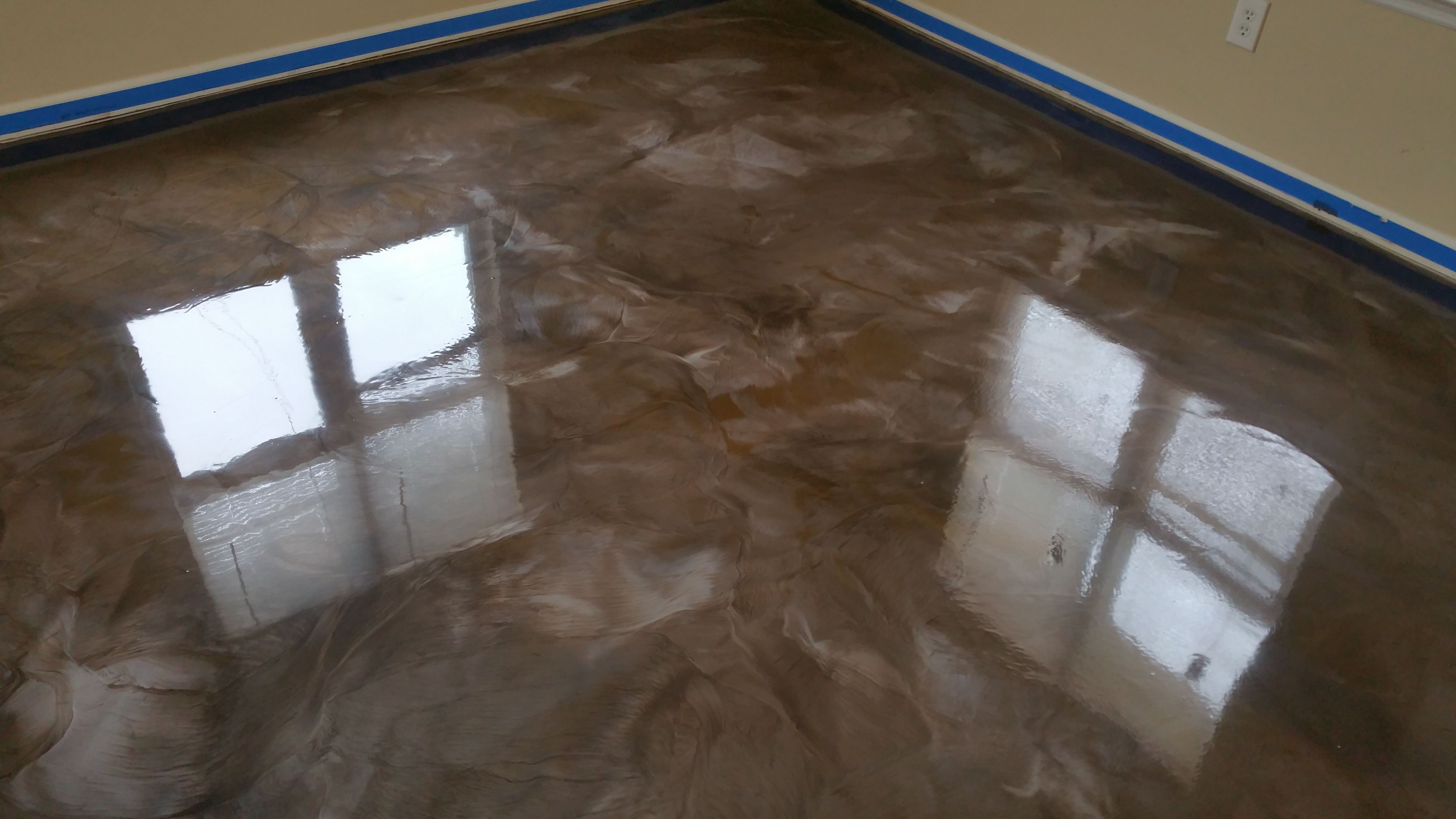 Liquid Marble Epoxy Flooring Is A Great Alternative To Stain And Painted Concrete It Is More Durable And Low Maintenance Compared T Epoxy Floor Flooring Epoxy