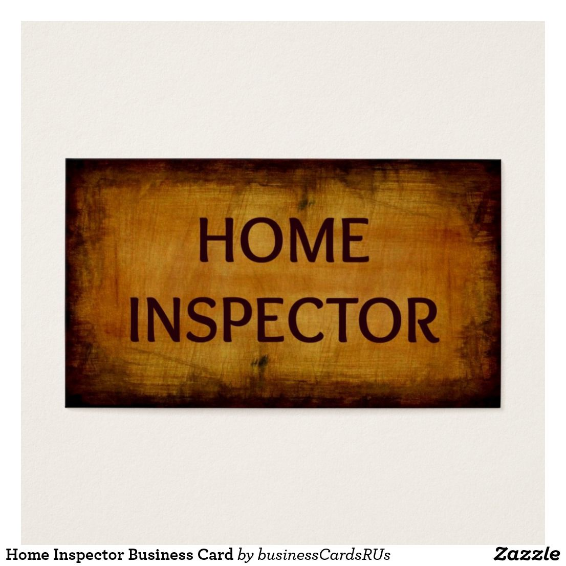 Home Inspector Business Card Zazzle Com Wood Business Cards Printing Business Cards Professional Business Cards