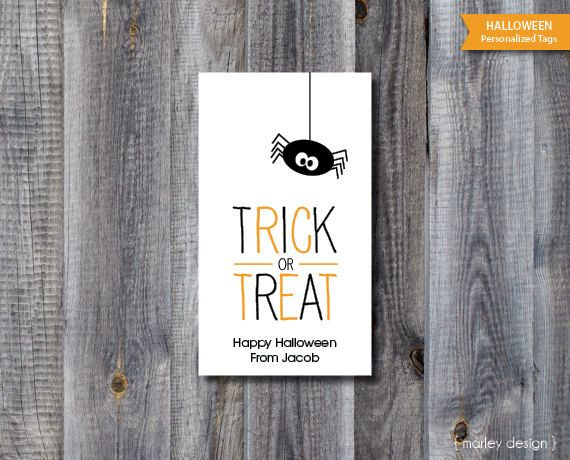 Halloween tags printable personalized halloween labels trick or halloween tags printable personalized halloween labels trick or treat spider halloween classroom tags digital tags halloween favor tags negle Gallery